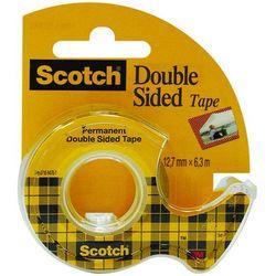 Taśma klejąca Scotch dwustronnie klejona przezroczysta w podajniku 12mmx6,3m