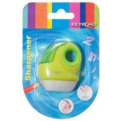 Temperówka KEYROAD, plastikowa, pojedyncza, z gumką, blister, mix kolorów