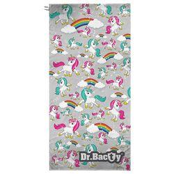 Ręcznik szybkoschnący Dr.Bacty XL Jednorożec Szary - Jednorożec Szary