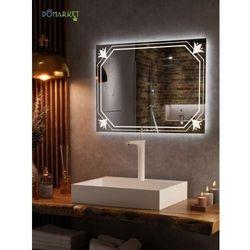 Lustro z oświetleniem ledowym do łazienki: ALISA-08