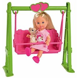 Simba Evi Love lalka na huśtawce z pieskiem