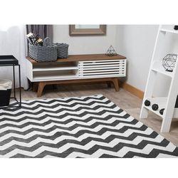Dywan dwustronny 140 x 200 cm czarno-biały HAKKARI