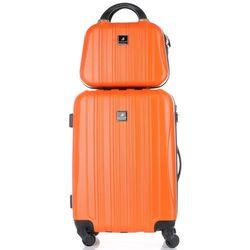 Solidna Walizka z Kuferkiem renomowanej firmy Madisson Pomarańczowa (kolory)