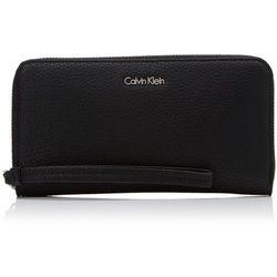 Calvin Klein EDIT LARGE ZIP AROUND Portfel black