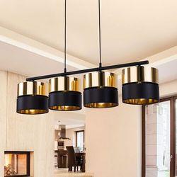 TK Lighting Hilton 4342 lampa wisząca zwis 4x60W E27 czarny/złoty