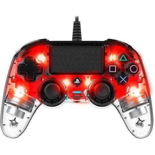 Gamepady, Kontroler NACON Compact Controller Świecący Czerwony
