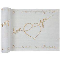 Dekoracja bieżnik na stół - Love you - 30 x 300 cm - 1 szt.