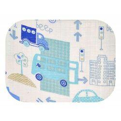 Pieluszka tetrowa wielorazowa drukowana 100% bawełna Auta niebieskie w mieście