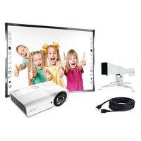 Tablice interaktywne, Zestaw Qomo Standard Tablica Qomo QWB379BW + projektor Vivitek DX881ST + uchwyt WallMount 1200
