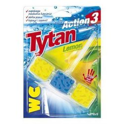 Kostka toaletowa WC Tytan Action 3 Lemon 45g