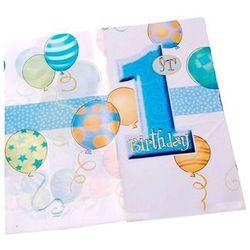Obrus na roczek 1st Birthday Baloniki Blue - 137 x 213cm - 1 szt