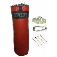 Gruszki i worki treningowe, Worek bokserski treningowy 90x30 15kg -PEŁNY + MOCOWANIE