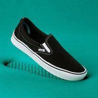 Męskie obuwie sportowe, buty VANS - Comfycush Slip-On (Classic) Black/True Whit (VNE) rozmiar: 34.5