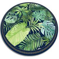 Dywany, Modny uniwersalny dywan winylowy Modny uniwersalny dywan winylowy tropikalne liście