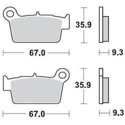 KLOCKI HAMULCOWE KH367 METALICZNE: 12 YAMAHA YZ/WR '03 MOTO-MASTER M094512
