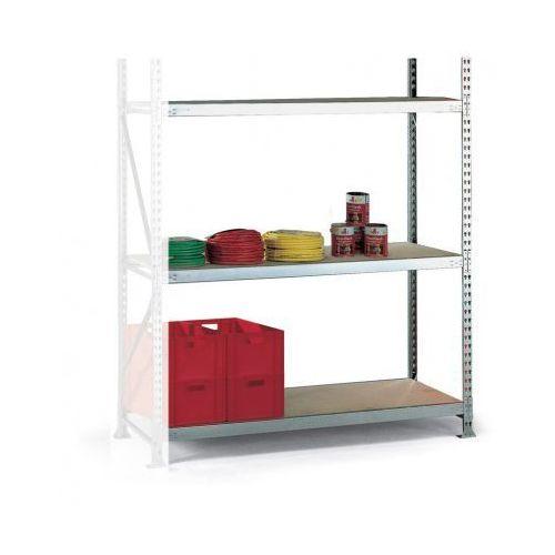 Regały warsztatowe, Regał półkowy, nośność 600 kg, 2500x1800x1050 mm, dodatkowy