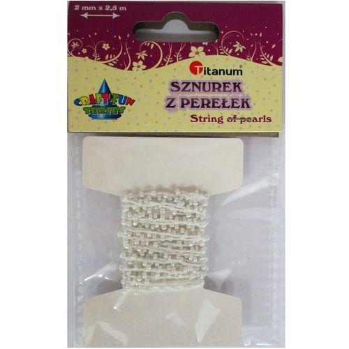 Kreatywne dla dzieci, Sznurek koralików biały. 338688. - Titanum