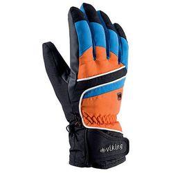 Rękawice narciarskie Viking Biset - czarno-niebiesko-pomarańczowy viking (-28%)