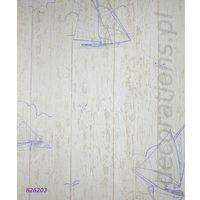 Tapety, Tapeta Rasch żaglówki drewno AQUA RELIEF 2014 826203