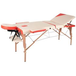 Łóżko stół do masażu inSPORTline Japane, Biało-pomarańczowy