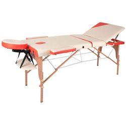Łóżko stół do masażu inSPORTline Japane, Kremowo-żółty