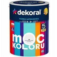 Farby, Farba lateksowa DEKORAL MOC KOLORU/ AKRYLIT W skandynawska szarość 5 L