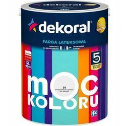 Farba lateksowa DEKORAL MOC KOLORU/ AKRYLIT W skandynawska szarość 5 L