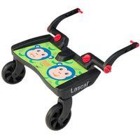 Dostawki do wózków, Lascal Buggy board MAXI- dostawka do wózka, zielone małpki