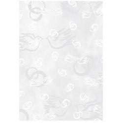 Transparentny papier - ślub biały