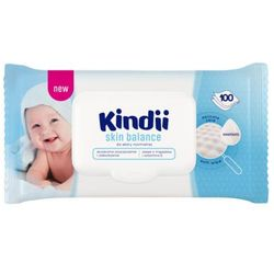 CLEANIC KINDII 100szt Skin Balance Chusteczki nawilżane Dla niemowląt Do skóry normalnej Pop-up