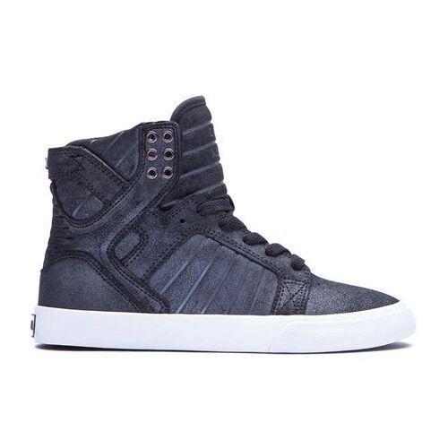 Damskie obuwie sportowe, buty SUPRA - Skytop Black/Metallic (BMT)