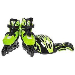 Zestaw łyżworolki i ochraniacze NILS EXTREME NJ082 set Zielony (rozmiar 36-39) + DARMOWY TRANSPORT!