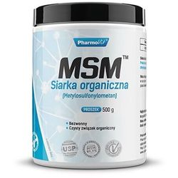 Siarka organiczna MSM 250 porcji 500g PharmoVit