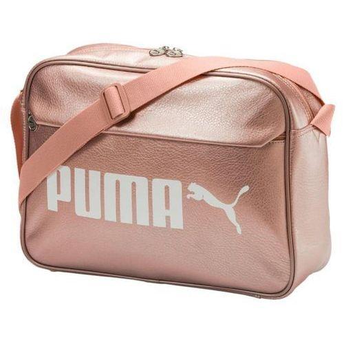d05bef867a144 Puma CAMPUS REPORTER Torba na ramię peach beigemetallic - BuyBlo