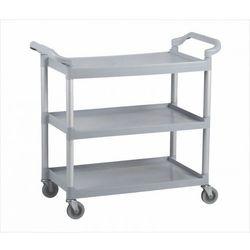 Wózek półkowy do sprzątania, aluminium/plastik