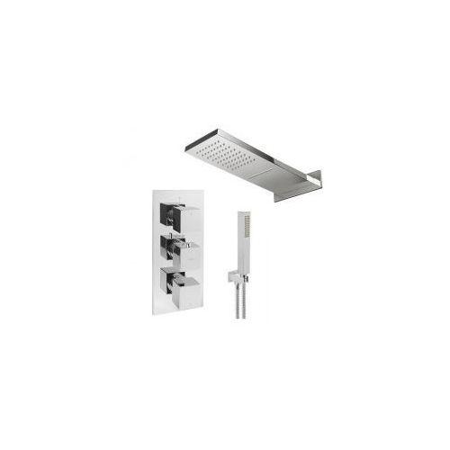 Podtynkowy zestaw prysznicowy z baterią termostatyczną omnires fr7138/6 kaskada, chrom zest240 marki Zestawy