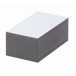 Magnetyczna tablica magazynowa, białe, wys. x szer. 80x100 mm, opak. 100 szt. Za
