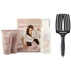 Alfaparf Keratin Therapy Kit and Finger Brush | Zestaw do włosów: keratynowe prostowanie włosów + szczotka rozmiar L