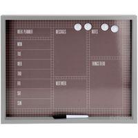 Tablice szkolne, Tablica magnetyczna na notatki MEMOBOARD + pisak, 4 magnesy