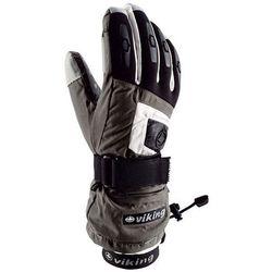 Rękawice narciarskie Viking Printer - szaro-biały viking (-28%)