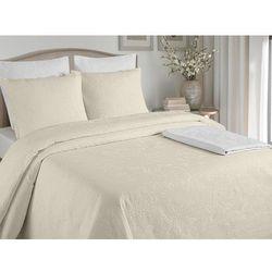 Pikowana narzuta na łóżko CHAMBORD 220 × 260 cm + 2 poszewki 60 × 60 cm – Kolor ecru