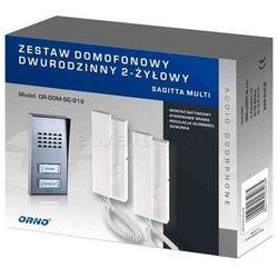 Zestaw domofonowy dwurodzinny, 2 słuchawki 2-żyłowy n/t SAGITTA MULTI OR-DOM-SG-919 Orno