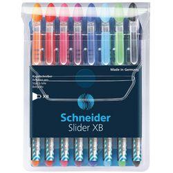 Zestaw długopisów SCHNEIDER Slider Basic, XB, Colours, 8 szt., miks kolorów