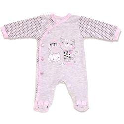 Lafel piżamka dziewczęca Kitty 68 szary