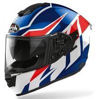 Kaski motocyklowe, AIROH KASK INTEGRALNY ST501 FROST BLUE/RED GLOSS