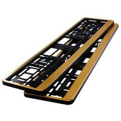 Ramki pod tablicę rejestracyjną HP Złote 2 szt - Złote