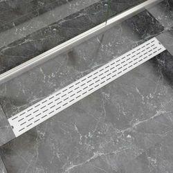 vidaXL Kratka odpływowa, liniowa, 1030x140 mm, wzór linii, stal nierdzewna Darmowa wysyłka i zwroty