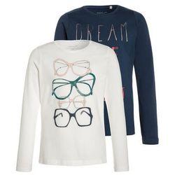 Name it NITVEENIBI BOX 2 PACK Bluzka z długim rękawem snow white/insignia blue