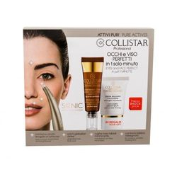 Collistar Pure Actives Eye Contour Hyaluronic Acid + Peptides zestaw Sonic Eye & Face + Krem do twarzy 15 ml + Krem pod oczy 15 ml dla kobiet