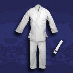 kimono do judo TONBO - JUNIOR, białe, 350g/m2 (z białym pasem)